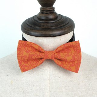 Retro orange roses series of hand-tie Bow Tie shooting performance props