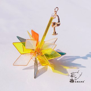 Chip of Stars EVA Zero - Hand Made Drop Earrings (transparent)