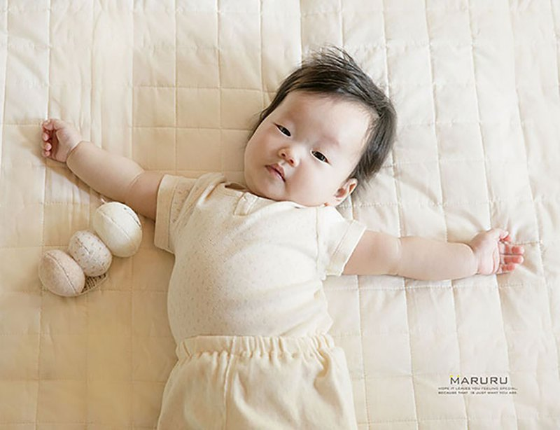 MARURU Japan-made  Organic cotton baby homewear - upper shirt