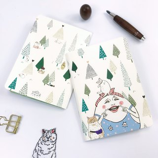 Egg Ding Forest B6 Notebook - Send Sticker喔
