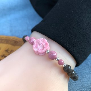 Black Body Labrador Rose Bracelet