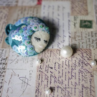 [Series] mermaid girl brooch pearl tears