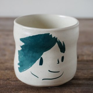Brut Cake Handmade pottery - smiling mug (not to) 260ml-16