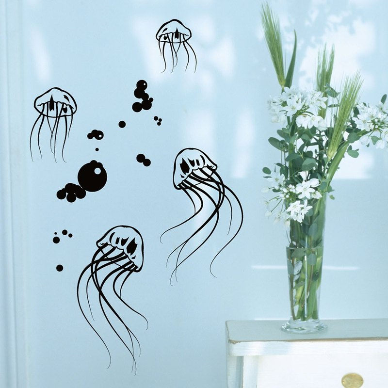 """Smart Design"" Creative Seamless wall stickers ◆ jellyfish jellyfish 8 color options"