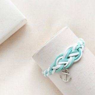 Handmade Braided Sailor Knot Bracelets - light blue limited