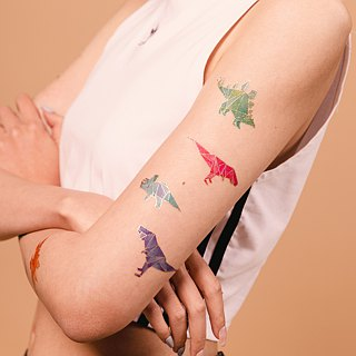 pinkoi-beach :: Tattoo:: Geo Dino  2set Original Design | PAPERSELF