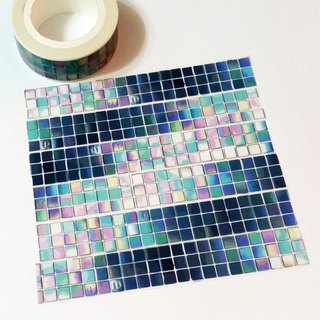 Masking Tape Blue Glass Tiles