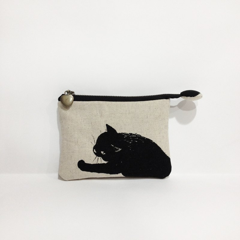 Cotton black purse (can hold card)