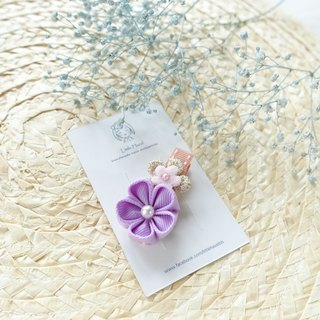 Children headdress. And the wind flower hairpin / Liuhai folder hair ornaments (purple)