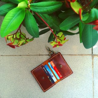 wallet keychain for vehicle color brown