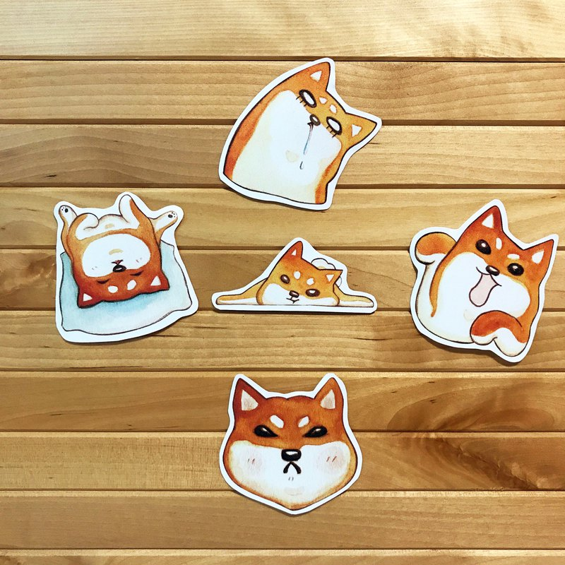 Red Shiba Ink Stickers