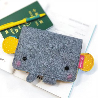Balloon-Elephant Passport Case (yellow dot)