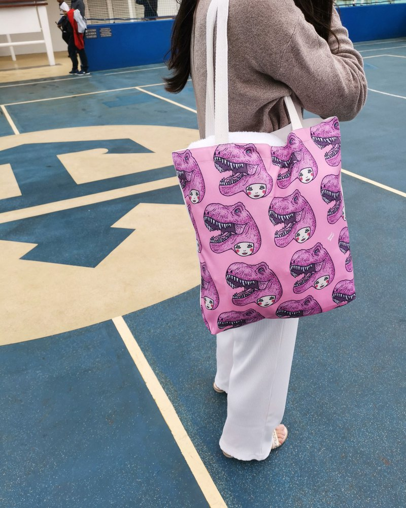 Cute Dinosaur Head Tote Bag