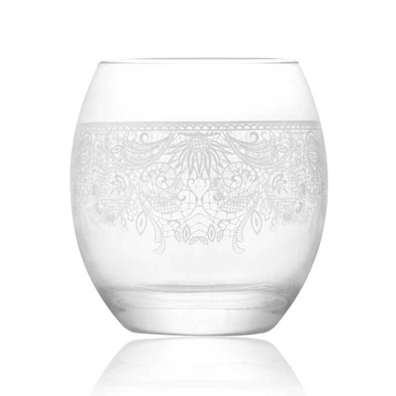 LAV lace designed glass whisky cup Set of 3