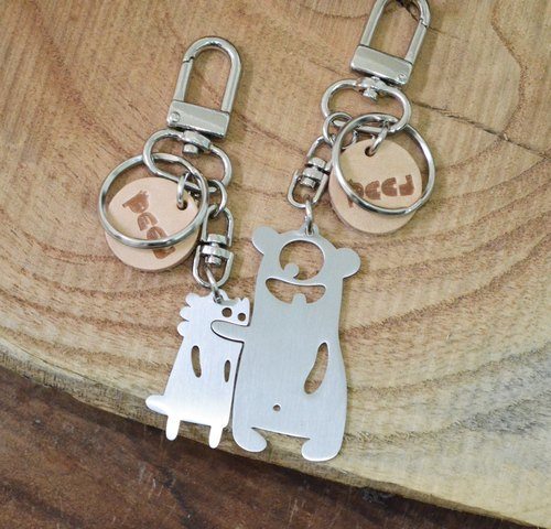 Stop Eating Everything!  Stainless Steel Keychain Valentine's Day set
