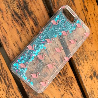 Liquid Glitter Pink Flamingo Glittering Case for iPhone 8, iPhone 8 Plus, iPhone 7 7Plus 6/6s 6/6s Plus, more colors options