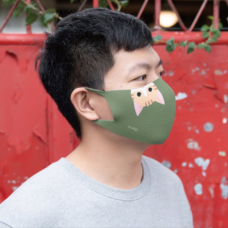 Matcha Green Miaow-3D Stereo Breathing Mask
