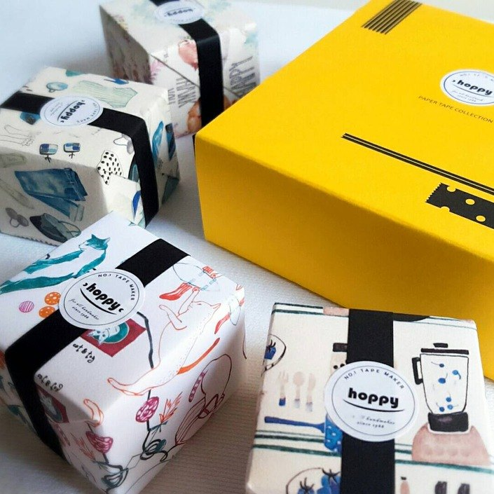 [Exchange Gift] Paper Tape Gift Box 02 Mini Box-lazy day