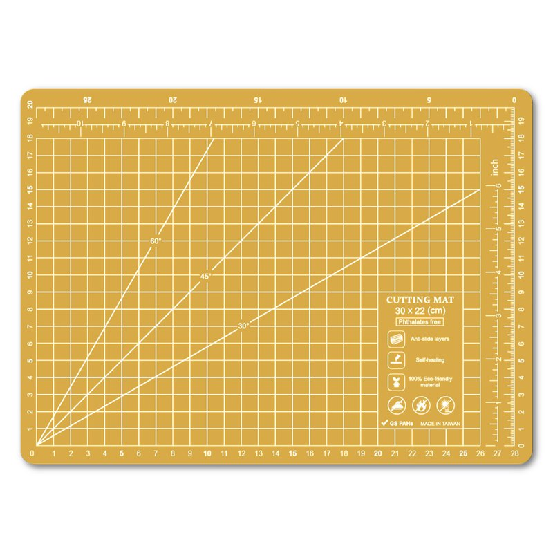 A4 yellow custom environmental cutting pad student desk pad office stationery school office design gift gift
