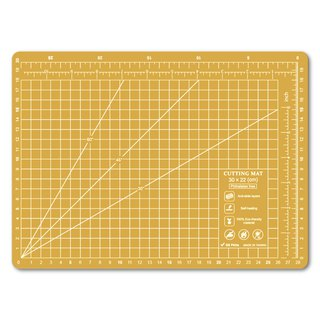 Lightweight odorless cutting pad (A4) yellow translucent / art professional use