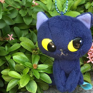 BLUE WORLD, Japan Blue Cat Sitting Charm (10cm) BW1511201