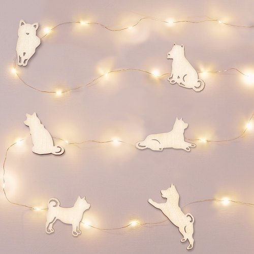 Shiba Inu Star Hanging Line Light (5 meters in length powered by USB) - Line Lights/Light Bars/Murals
