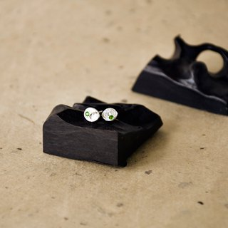 Handmade Green Diopside with sterling silver Stud Earring