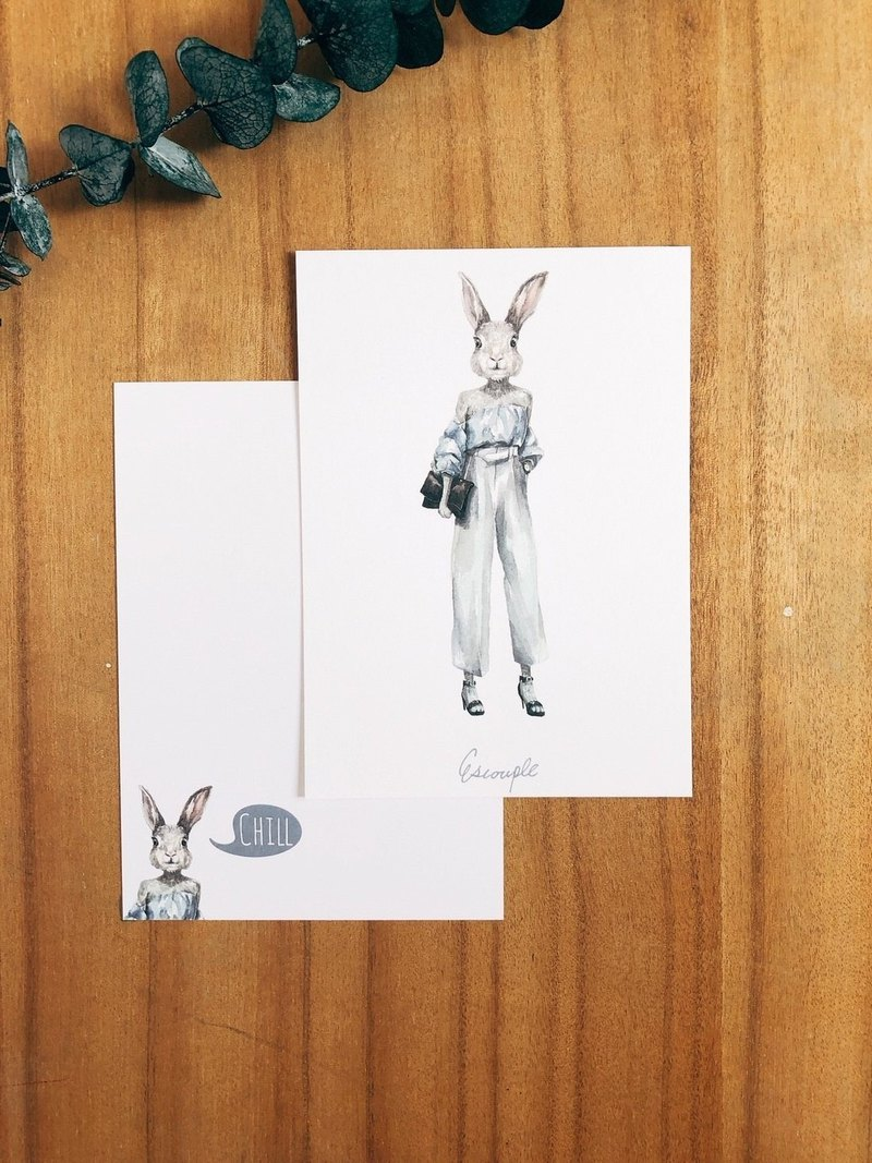 Animal Postcard - Rabbit