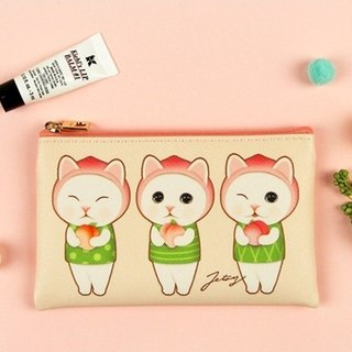 Jetoy, Sweet Cat Card Passport Coin Purse _Peach hood J1707402