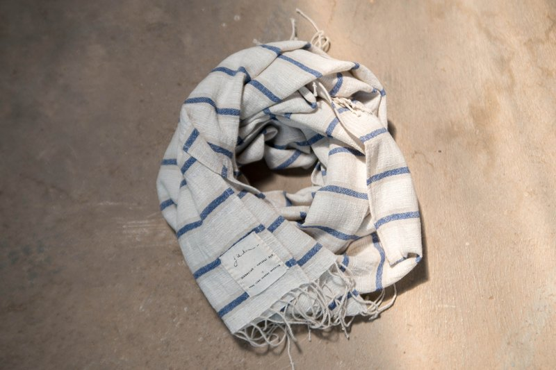 easy day scarf 01 | cotton linen natural color