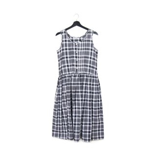 Back to Green :: black and white checkered tie waist sleepwalking // // vintage dress (OPD-25)