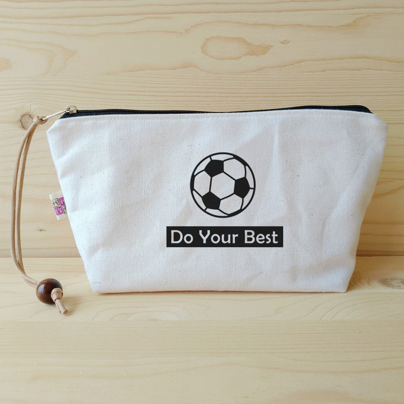 Love sports _ football cosmetic bag