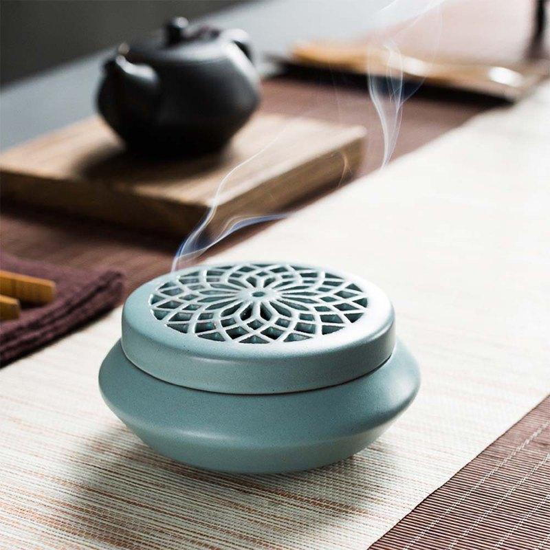 Ceramic dish incense burner agarwood sandalwood incense line incense burner  household tea ceremony incense incense stick indoor indoor aromatherapy