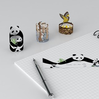 Hooome Notes Animal Family Note Paper