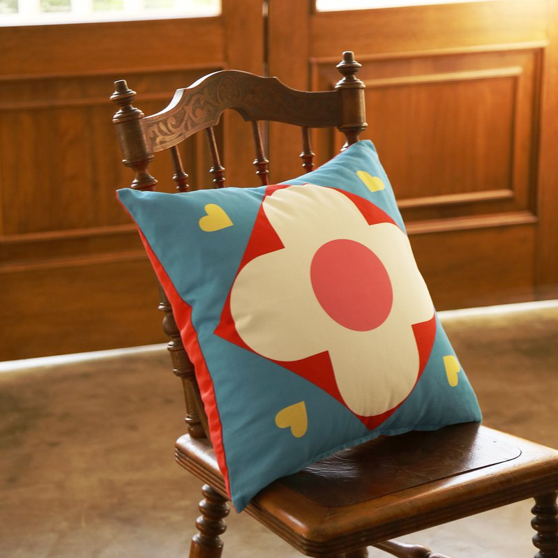 Nordic Vintage Secret Garden Series Colorblock Printed Cotton Pillow Cushion