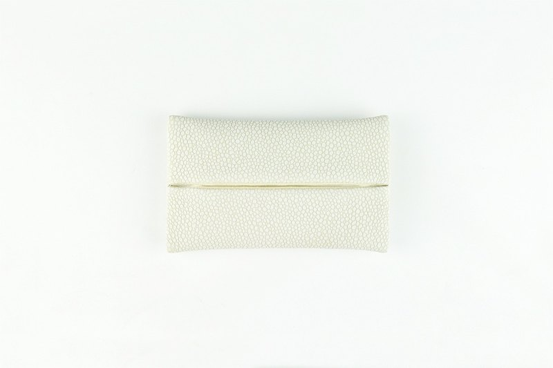 Pocket Tissue Holder for Purse, PU Leather Travel Tissue Holder, White