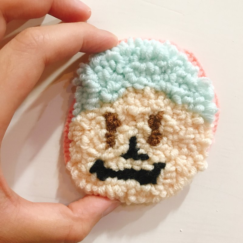 Wool Russian Embroidery_Little Man Badge