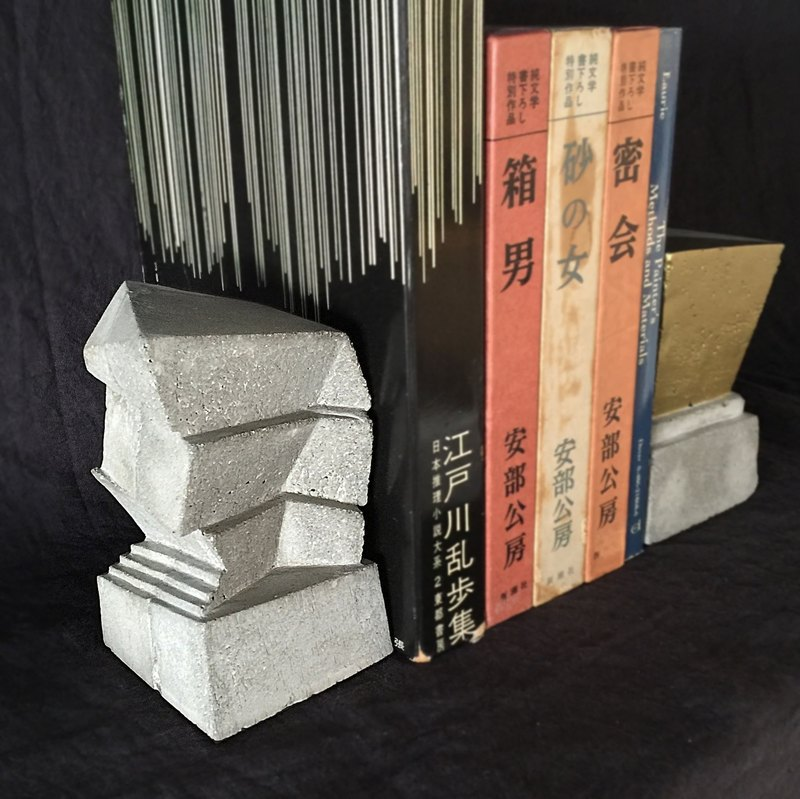 Free Shipping - Concrete Bookend building Sold as a single