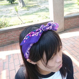 Purple Sakura French Banded Elastic Band Hairband*SK*