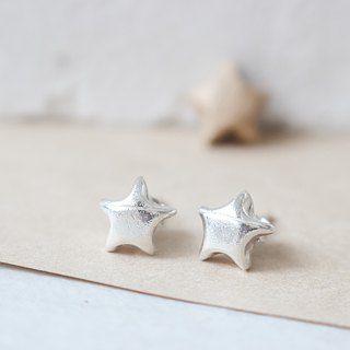 925 Silver Lucky Star Stud Earrings