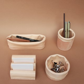 Desk Organizer ,Storage leather ,Stationery Holder ,Pen Holder ,Leather Basket