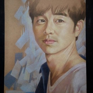 Gong Yoo style portrait (colored pencil) Special 1800 yuan