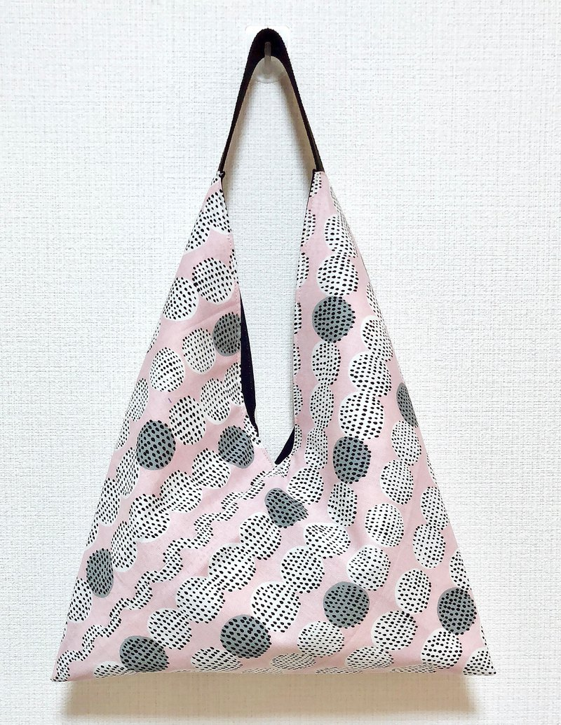 2019 spring color tote bag / imported cloth Nordic style pattern - pink bottom round