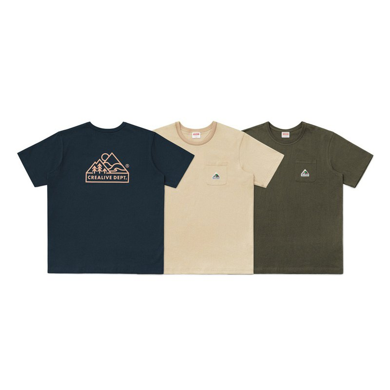 Crealive Dept. Mountain Peak Logo Pocket Tee