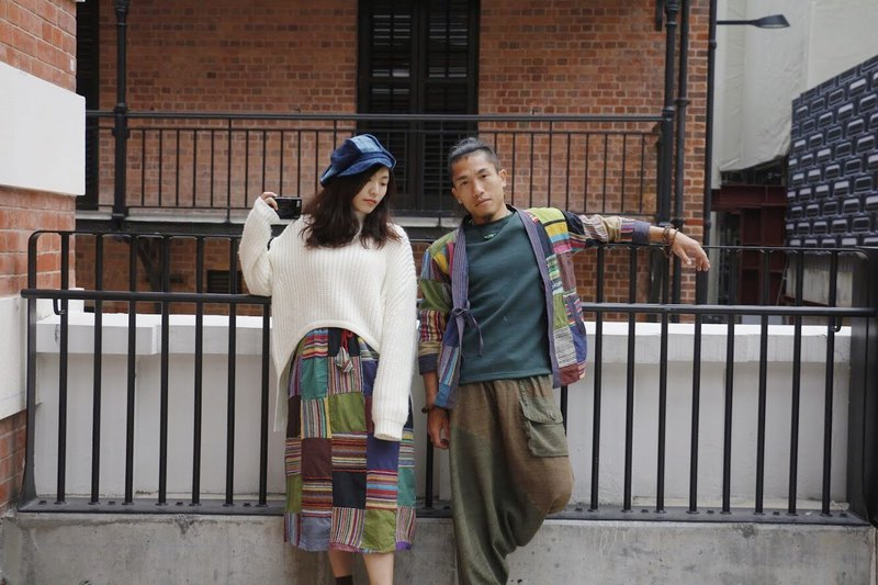 【Handwoven Ethnic Fabric Patchwork Skirt】