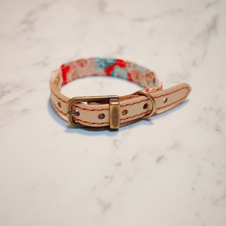 Dog collars, S size, Spring blooming flowers, Japan fabric_DCJ090409