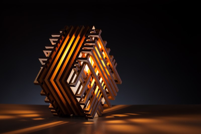 Zen wooden light - Tilting Square