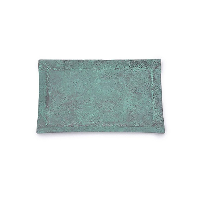tone square copper color plate copper blue (S)