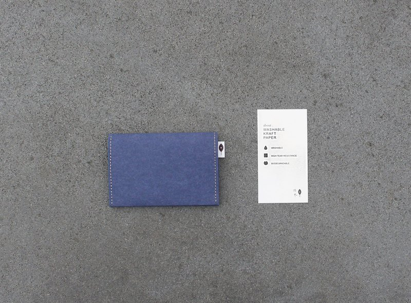 Simple Business Card Holder-Morning Blue