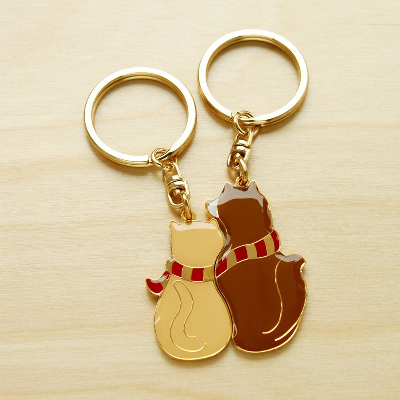 Customized Ray Lettering Service Perfect Together Key Ring - Dog